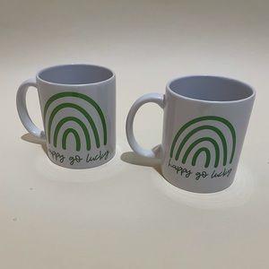 St. Patrick's Day matching ceramic mug set